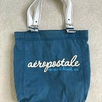 Aeropostale Denim Blue Tote Bag 100% Cotton  No Stains Photo