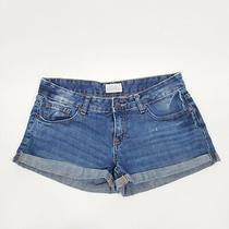 Aeropostale Denim Jeans Shorts Cuffed Womens Size 5 / 6 Distressed Blue Photo