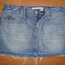 Aeropostale Denim Mini Skirt Size 5 / 6 Photo