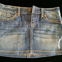 Aeropostale Denim Skirt Size 1/2 Photo