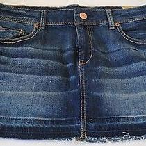 Aeropostale Denim Skirt Size 10 Mini New Nwt 44.50 Photo