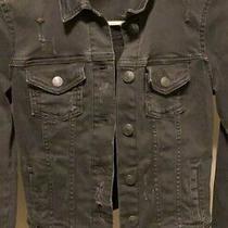 Aeropostale Distressed Black Jean Jacket Womens Denim Size Xs New Photo