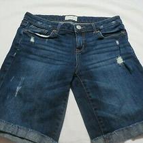 Aeropostale Distressed Blue Bermuda Shorts  Size 5/6 Photo
