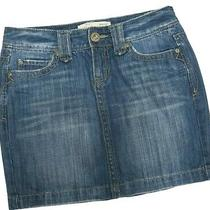 Aeropostale Distressed Denim Jeans Skirt Size 3/4 Blue Photo
