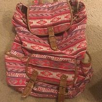 Aeropostale Drawstring Backpack. Water Bottle Pockets. Photo