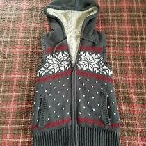 Aeropostale Faux Fur Sweater Zipper Hoodie Vest Ladies Sweater Zip Vest Photo