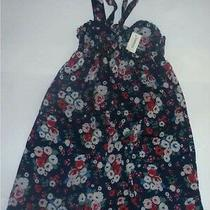 Aeropostale Floral Print Cinched Drawstring Top Tie Dress Size Xs Nwt 8528 Photo