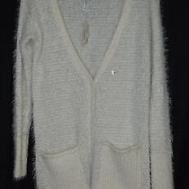 Aeropostale Fuzzy Slouchy Off White Cardigan Photo