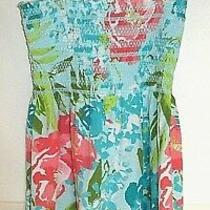 Aeropostale Girls Floral Tunic Top Blue Green Orange Spaghetti Straps Small  Photo