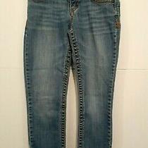 Aeropostale Girls Jeans Size 1/2 Pre-Teen Youth Blue Pockets Button Zipper Dist Photo