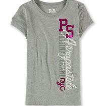 Aeropostale Girls Ps Nyc Puff Paint Graphic T-Shirt Photo