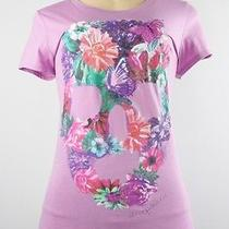 Aeropostale Graphic Tee Floral Purple Size L Photo
