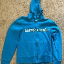 Aeropostale Hoodie Hooded Zipper Sweatshirt Blue Size Large  Photo