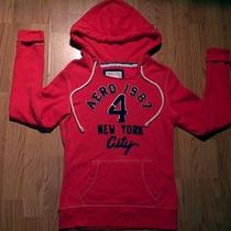 Aeropostale Hoodie Small Orange/navy Guc Photo