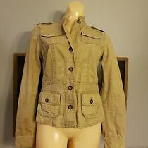 Aeropostale Jacket Womens Tan Xs Button Jean Style 100% Cotton  Photo