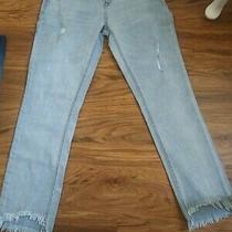 Aeropostale Jeans Light Blue Stretchy Distressed Size 4 Photo
