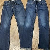 Aeropostale Jeans Size 30/32 Straight Slim Fit Lot 2 Used Photo