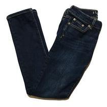 Aeropostale Jeans Womens Size 2 Low Rise Dark Wash Skinny Leg Blue Denim Photo