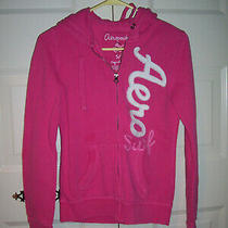 Aeropostale Junior Girls Pink Long Sleeve Hooded Sweatshirt Jacket Size Small Photo