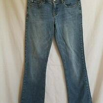 Aeropostale Junior Womens Size 4 Short Jeans Boot Cut 5 Pocket Button Waist Blue Photo