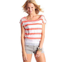 Aeropostale Juniors Cropped Ss Graphic T-Shirt Photo