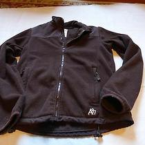 Aeropostale Juniors Large Brown Fleece Jacket Zipper Front 2 Side Pockets Photo