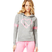 Aeropostale Juniors Metallic Heart Sleep Hoodie Sweatshirt Photo