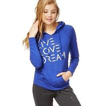 Aeropostale Juniors Puff Paint Metallic Hooded Hoodie Sweatshirt 431 S Photo