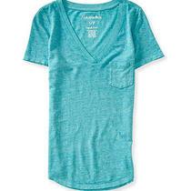 Aeropostale Juniors Solid Pocket Embellished T-Shirt Photo