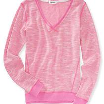 Aeropostale Juniors Tight v Neck Knit Sweater Photo