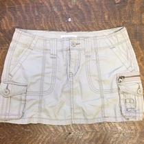 Aeropostale Khaki Skirt Size 1/2 Cargo Style W Pockets & Button Zipper Closure Photo