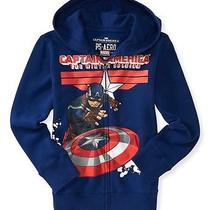 Aeropostale Kids Ps Boys' Marvel Captain America Zip-Front Hoodie Photo