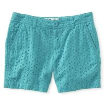 Aeropostale Kids Ps Girls' Eyelet Midi Shorts Photo