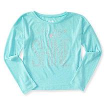 Aeropostale Kids Ps Girls' Long Sleeve Shine Boxy Tee Shirt Photo