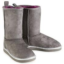 Aeropostale Kids Ps Girls' Solid Sherpa Boots Photo