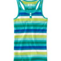 Aeropostale Kids Ps Girls' Striped Henley Boytank Shirt Photo