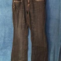 Aeropostale Ladies Blue Jeans Hailey Flare Curvy Size 11/12 Photo