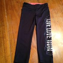 Aeropostale Live Love Run Running Tights. Black and Silver. Size Small. Euc. Photo