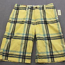 Aeropostale Logo Mens Yellow Blue Plaid Checker Longer Cargo Shorts Nwt  29  45 Photo