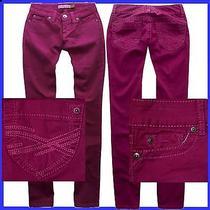 Aeropostale Magenta Stright Slim Smooth Bayla Jeans Pants Womens Size 00 2627 Photo
