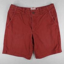 Aeropostale Men's 32 Red Flat Front Shorts Photo