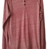 Aeropostale Men's Red Long Sleeve Casual Button Down Shirt Size Large Photo