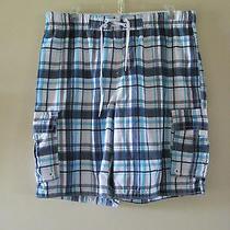 Aeropostale Men's Swimsuit Xl/tg Multi Color Plaid 100% Polyester. Photo