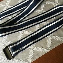 Aeropostale Mens 36 Belt Stripe Size Stripe  Navy White   Mint  Photo
