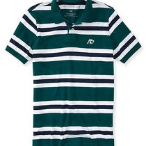 Aeropostale Mens A87 Stripe Jersey Polo Shirt Photo