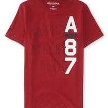 Aeropostale Mens A87 Vertical Graphic T Shirt Photo