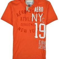 Aeropostale Mens Aero Nyc Rugby Polo Shirt Orange Xs Photo
