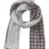 Aeropostale Mens Cable-Knit Check Reversible Scarf Photo