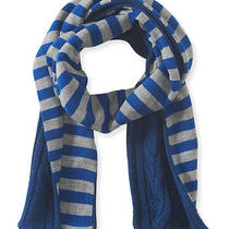Aeropostale Mens Cable-Knit Stripe Reversible Scarf Photo
