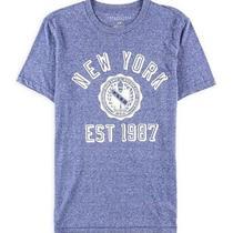 Aeropostale Mens Est. 1987 Crest Graphic T-Shirt Blue Small Photo
